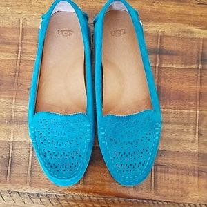 Ugg suede shoes blue 8 uggs woman
